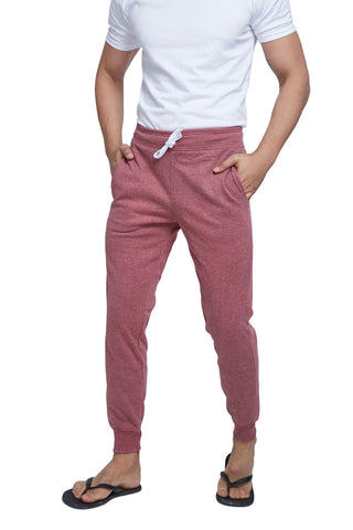 Maroon Melange Men's Sweatpants