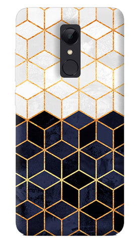 White And Navy Cubes Redmi Note 5 Case