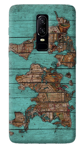 Wood Map Oneplus 6 Case