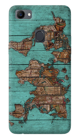Wood Maps Oppo F7 Cover