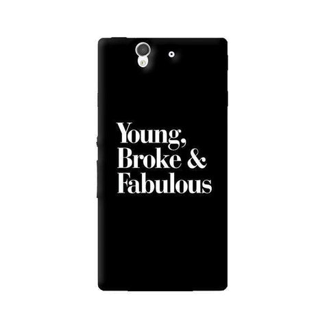 Young, Broke & Fabulous Sony Xperia Z Case