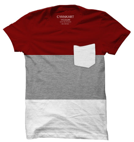 New York Burgundy Panel T-Shirt