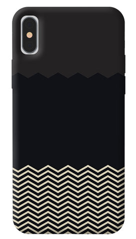Grey Chevron iPhone X Cover