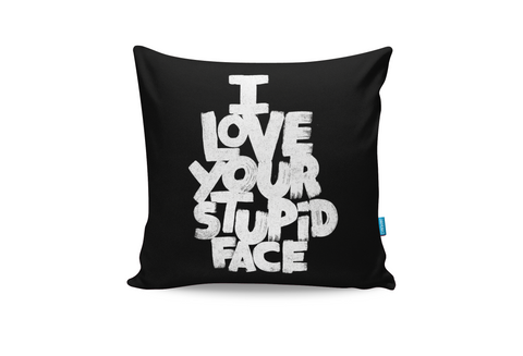 Stupid Face Cushion Cover