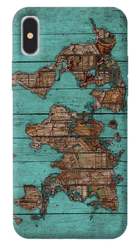 Wood Map iPhone X Cover