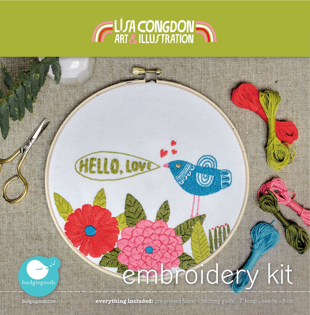 Hello embroidery kit