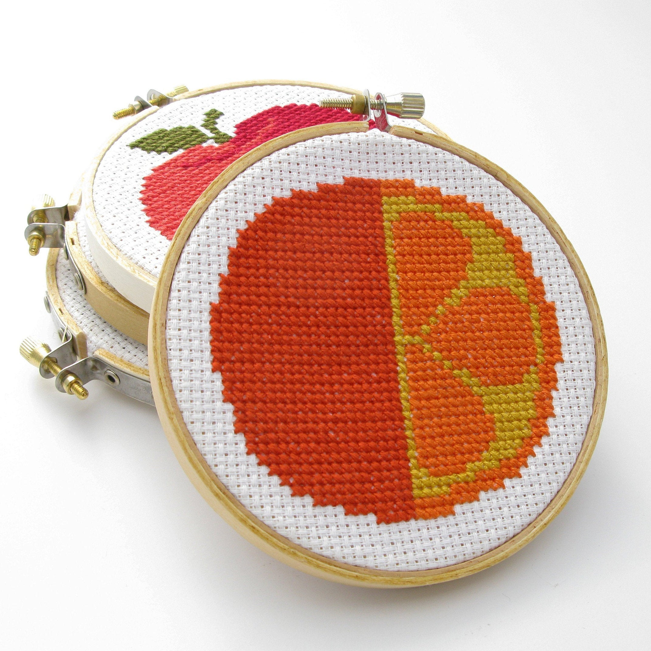 Orange Cross Stitch Kit