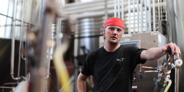 Revolution Brewing's Marty Scott in the brewery's production facility
