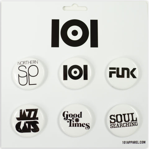 101 PIN PACK BLACK 6 PCS SET