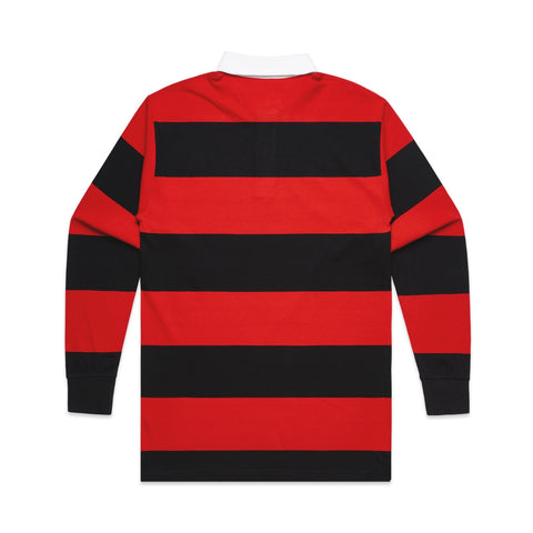 101 STRIPE RUGBY JERSEY RED/BLACK