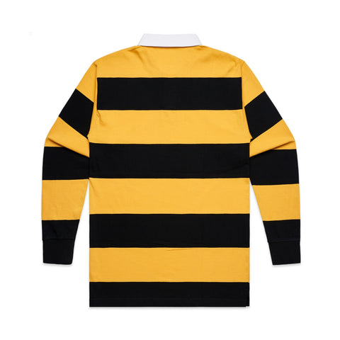 101 STRIPE RUGBY JERSEY YELLOW/BLACK