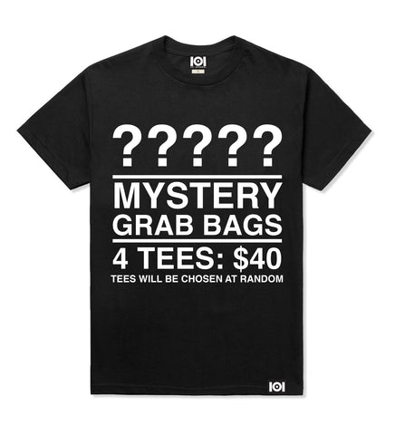 MENS T-SHIRT MYSTERY GRAB BAG - 4 FOR $40