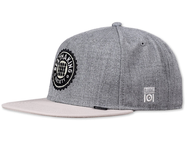 BEAT MAKING SOCIETY SNAP BACK - GREY/CREAM- LIMITED EDITION