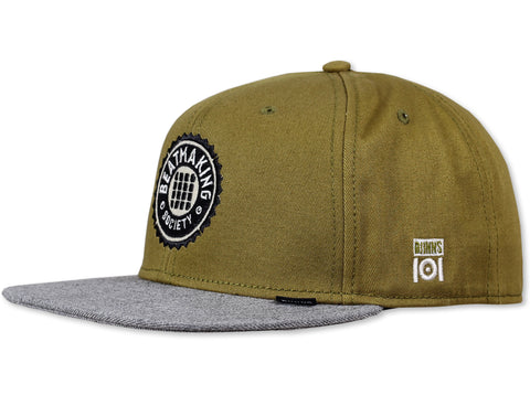 BEAT MAKING SOCIETY SNAP BACK - OLIVE/GREY - LIMITED EDITION