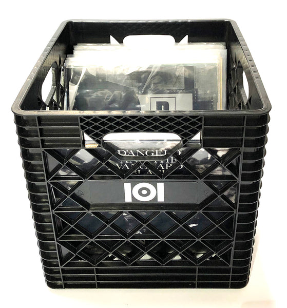 VINYL RECORD CRATE - BLACK