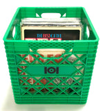 VINYL RECORD CRATE - GREEN