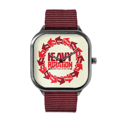 "LIMITED EDITION ""HEAVY ROTATION"" METAL WATCH"
