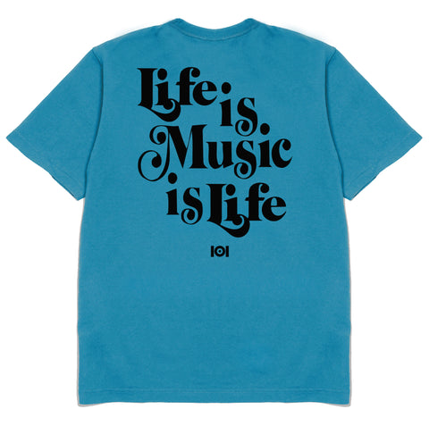 MUSIC IS LIFE IS MUSIC - TEAL