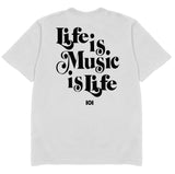 MUSIC IS LIFE IS MUSIC - WHITE