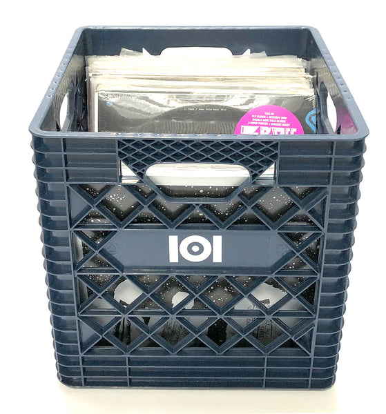 "12"" VINYL RECORD CRATE - NAVY"