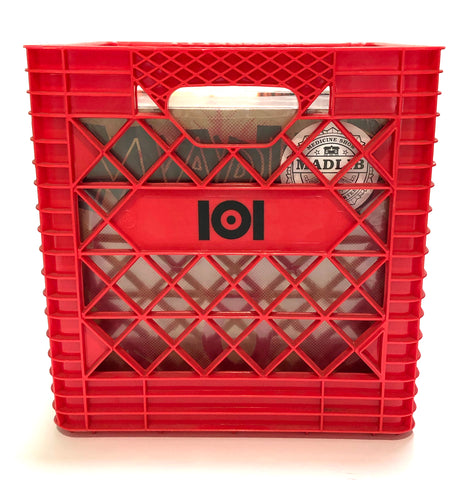 "12"" VINYL RECORD CRATE - RED"