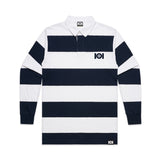 101 STRIPE RUGBY JERSEY WHITE/NAVY
