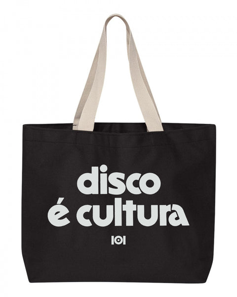 DISCO E CULTURA TOTE BAG - BLACK