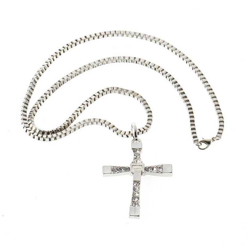 ANNA - The Fast and The Furious Men Classic Cross Necklace
