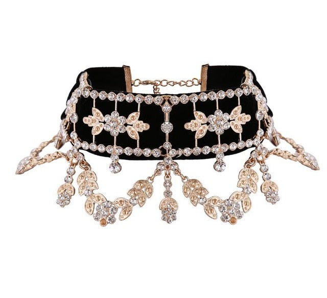 Crystal Rhinestone Choker Necklace