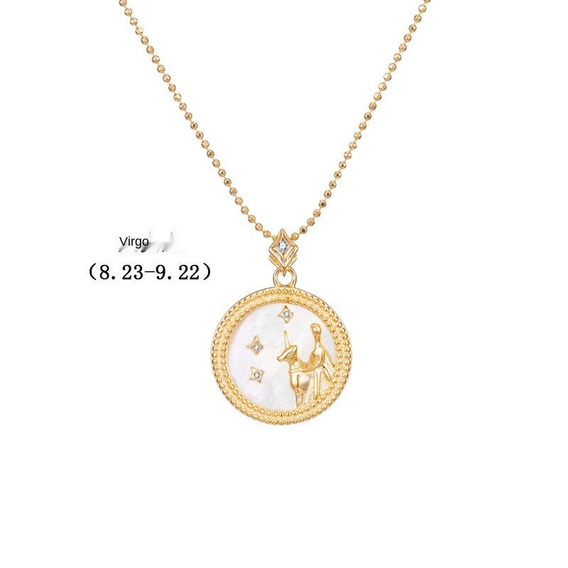 Chain Shell Pendant Twelve Constellations  Necklace