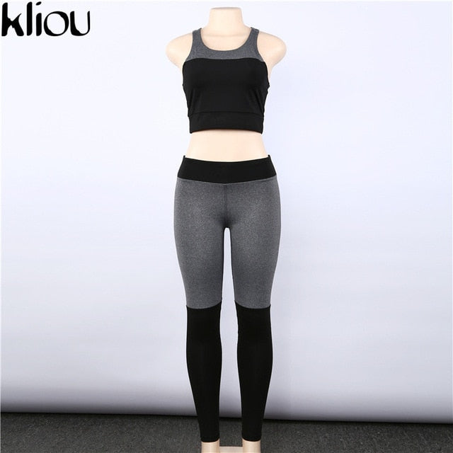 2 Piece Set Fitness Clothes Workout Sportswear