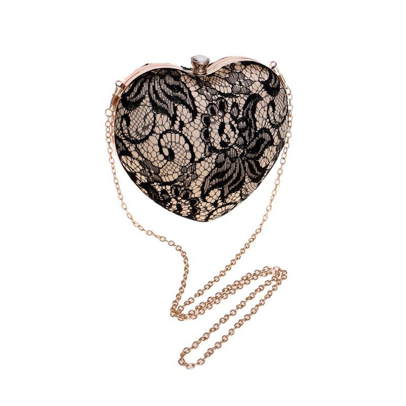 Handbag lady heart-shaped banquet  clutch bag