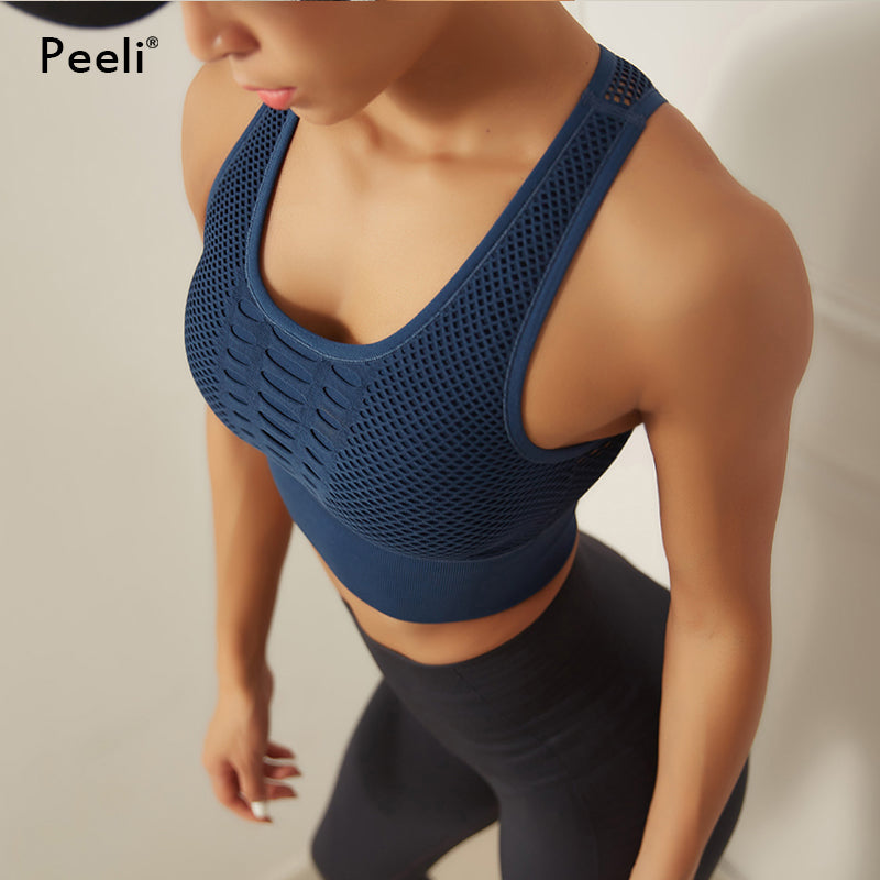 Seamless Sports  Padded Yoga Bra High Impact Activewear