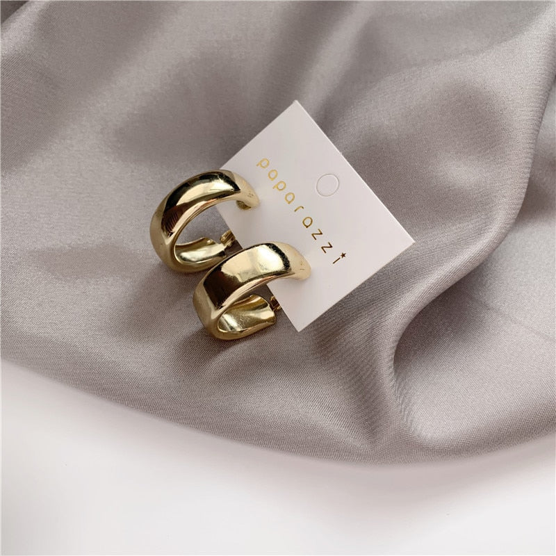 Minimalist Gold Silver color Earrings