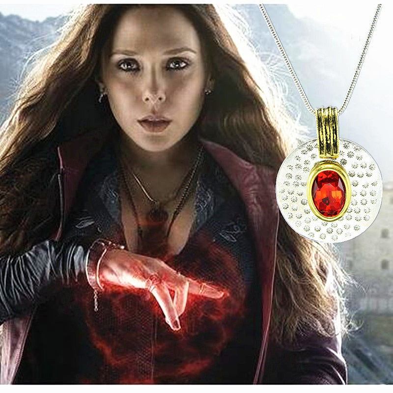 Avengers Scarlet Witch Red stone  Necklace