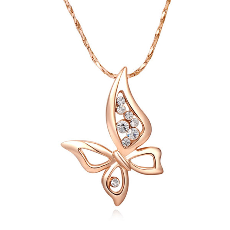 Four wings butterfly necklace