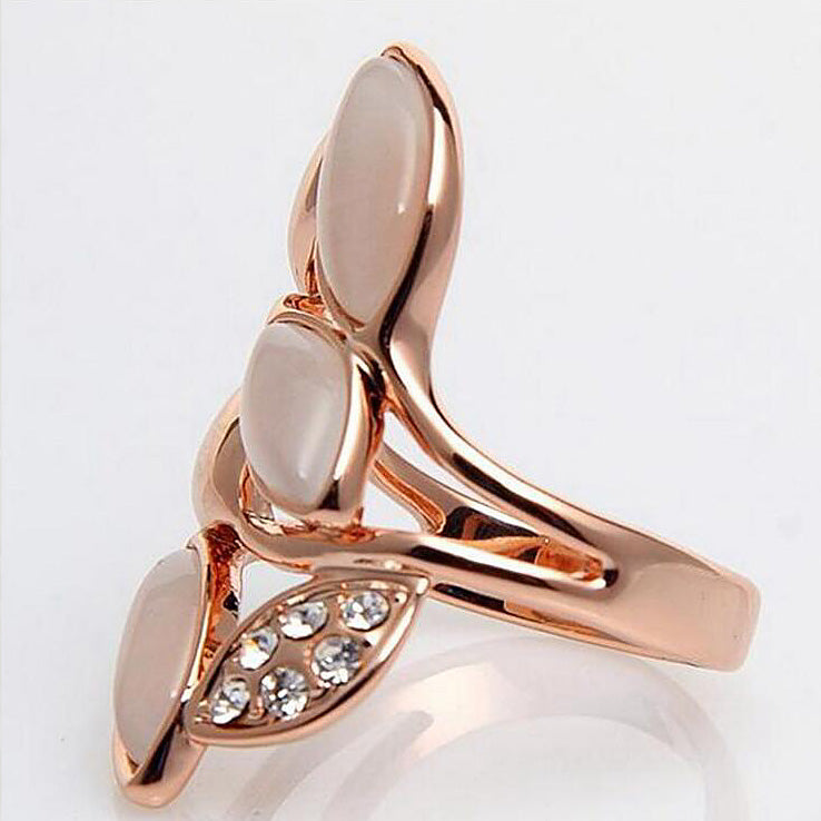 Angel Girl Rose Gold Color Ring