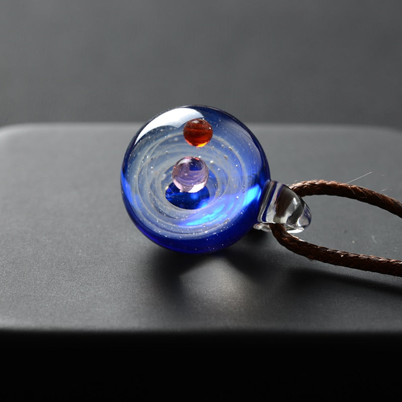 AVENGERS Universe Glass Bead Planets Necklace