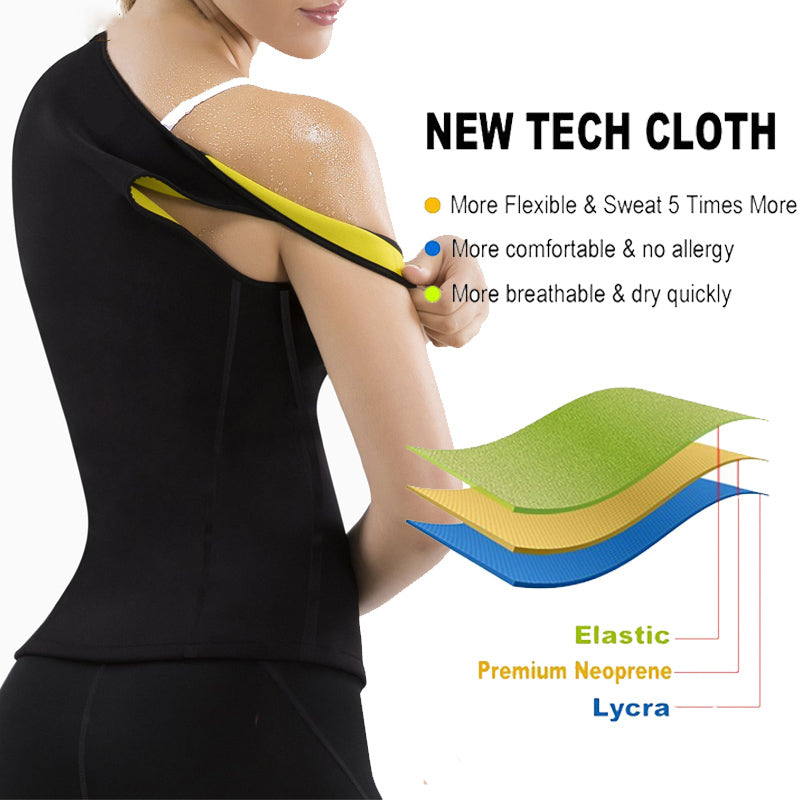 Plus Size Neoprene Sweat Sauna Body Waist Shaper Corset