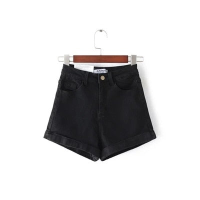 High Waist slim slice Jeans Denim Shorts