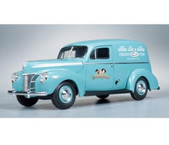 Three Stooges 1940 Ford Sedan Delivery @ https://www.jestersfunfactory.net/