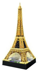 3D Eiffel Tower by Night 216pc @ https://www.jestersfunfactory.net/