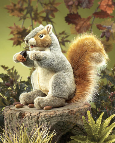 Gray Squirrel Hand Puppet