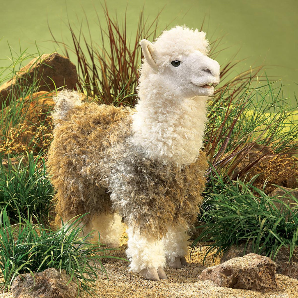 Folkmanis Alpaca puppet for sale online in Canada at Jesters