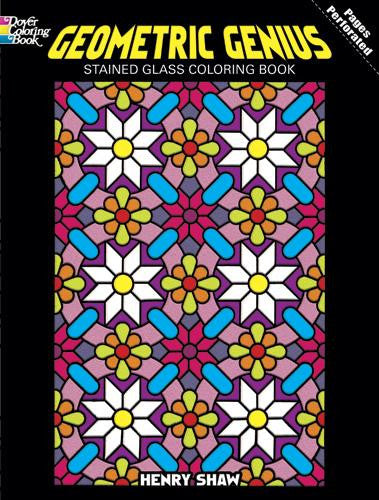 Geometric Genius Stained Glass Coloring Book By: Henry Shaw ...