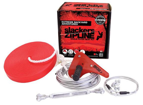 Slackers 90' Zipline Eagle Series Kit with Seat