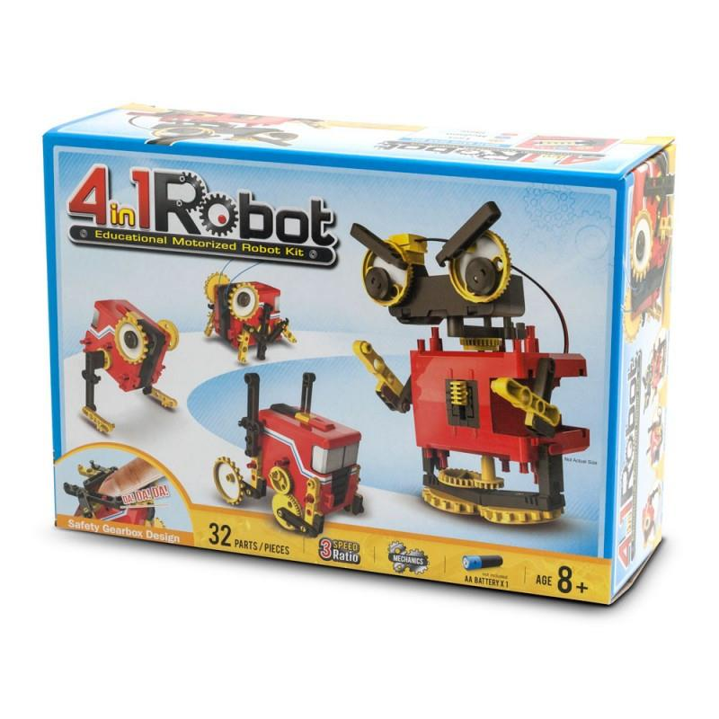 4 in 1 Robot kit @ https://www.jestersfunfactory.net/