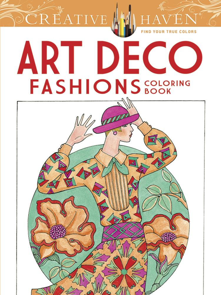 Art Deco Fashions Colouring @ https://www.jestersfunfactory.net/