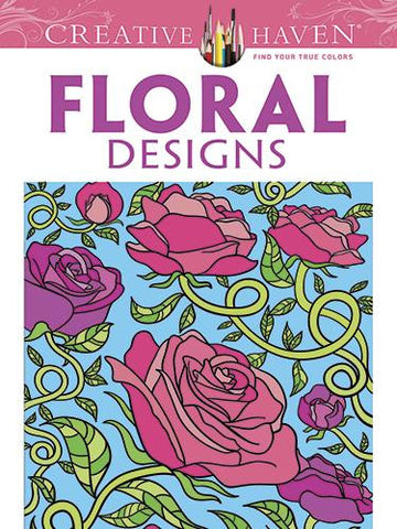 Floral Designs Coloring Book