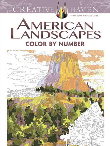 American Landscapes Colour by Number